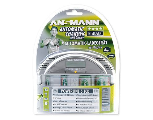 ANSMANN CARREGADOR POWERLINE 5 LCD