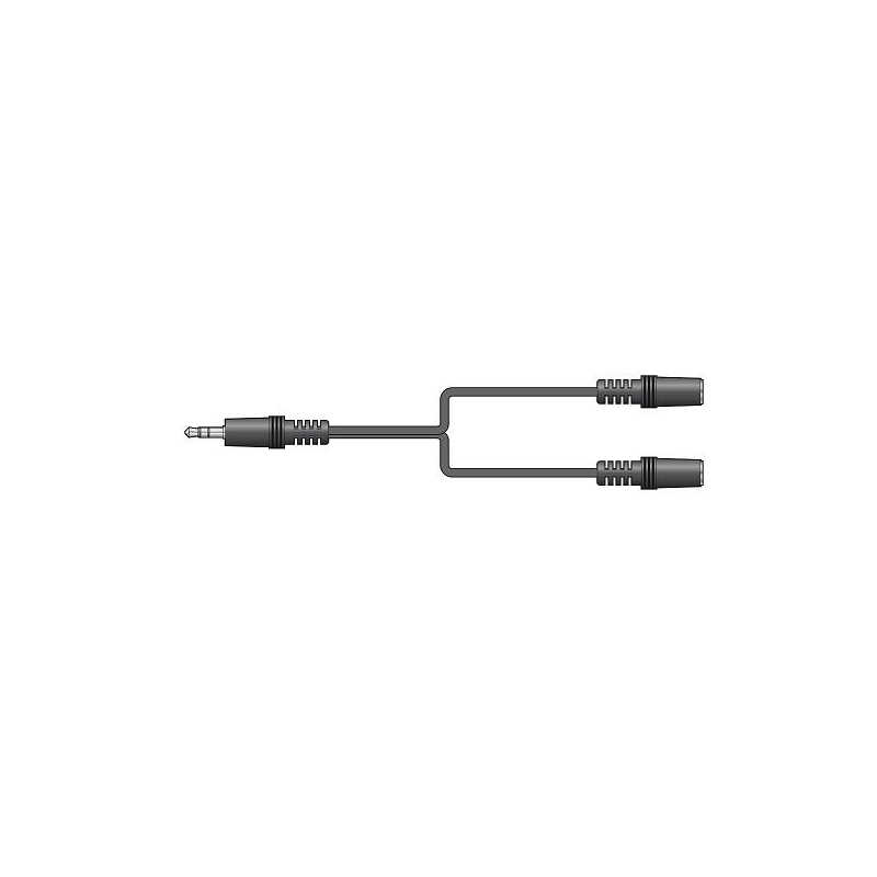 AVLINK CABO T 3.5MM MACHO 2X 3.5MM FEMEA
