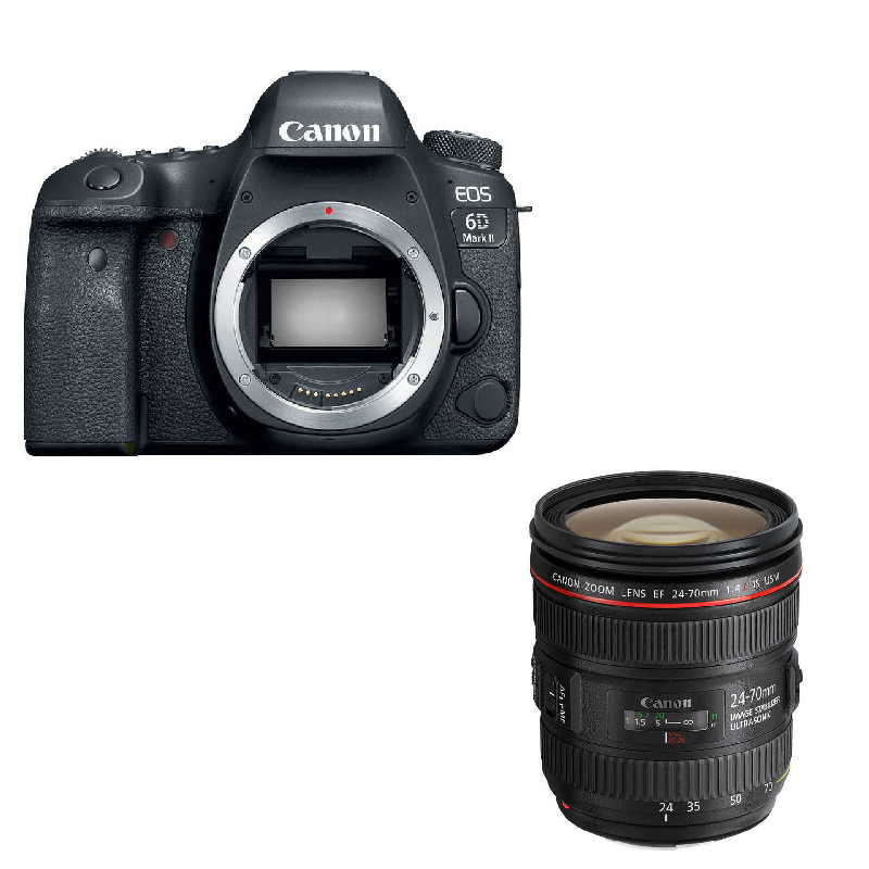 CANON EOS 6D MARK II + 24-70MM F4 IS