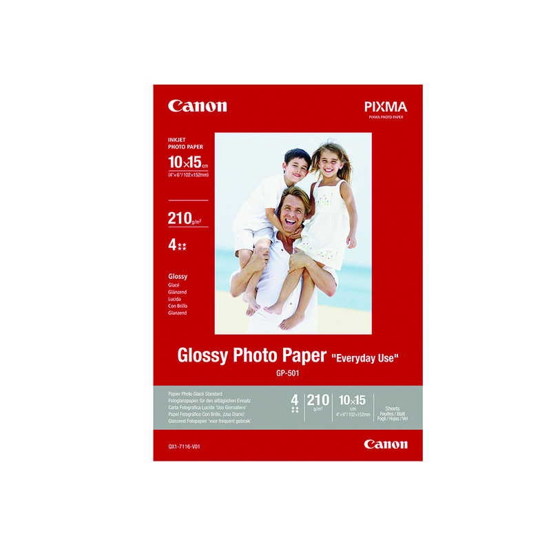 CANON GP-501 GLOSSY PHOTO PAPER 10X15-100FLS