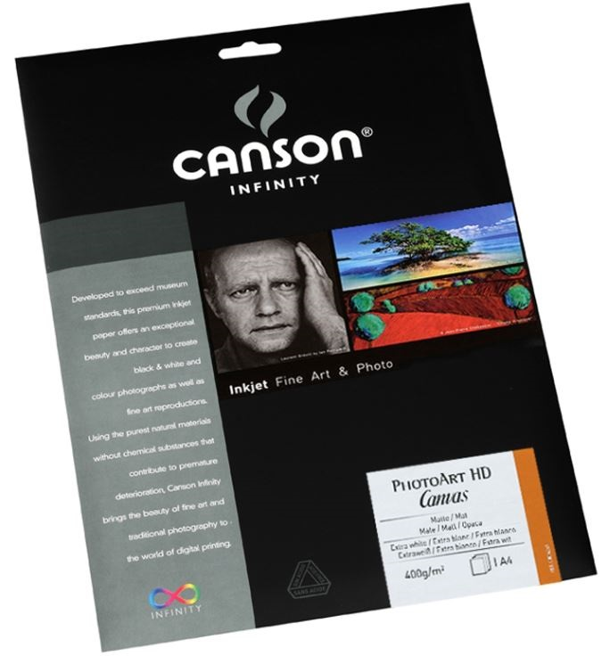 CANSON PHOTOART HD CANVAS 400gr A4 - 25F