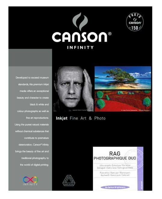 CANSON RAG PHOTOGRAPHIQUE DUO 250gr A4 - 25F