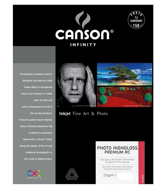 CANSON PHOTO HIGHGLOSS PREMIUM RC 315gr A4 - 25F
