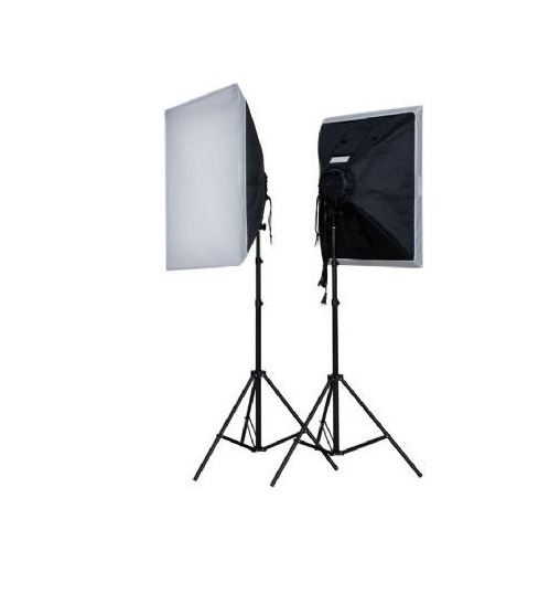FE DAYLIGHT KIT 2X55W + SOFTBOX 50X50 + TRIPES (2X275W)