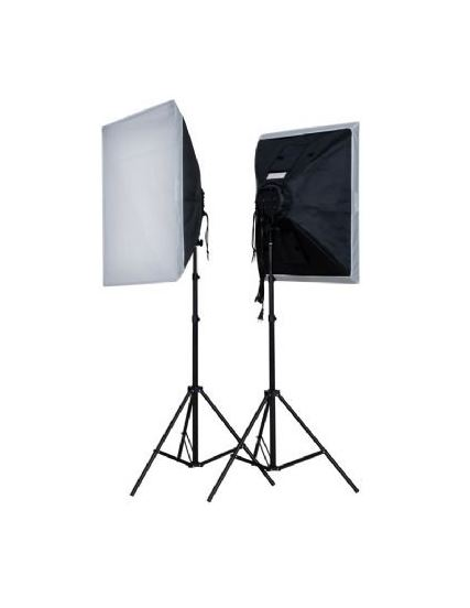 FE DAYLIGHT KIT 2X40W + SOFTBOX 50X50 + TRIPES (2X200W)