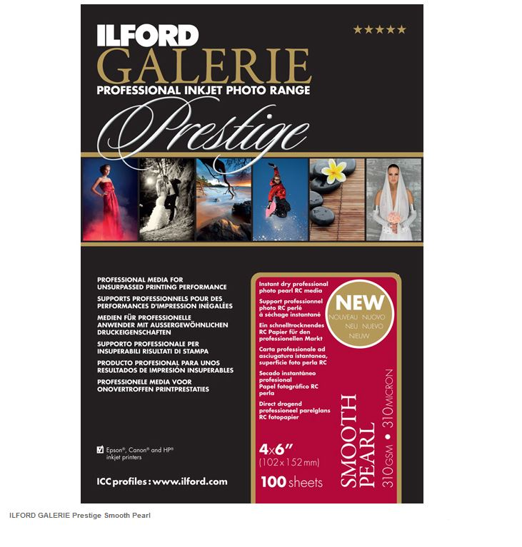 ILFORD GALERIE SMOOTH PEARL 10X15-100F