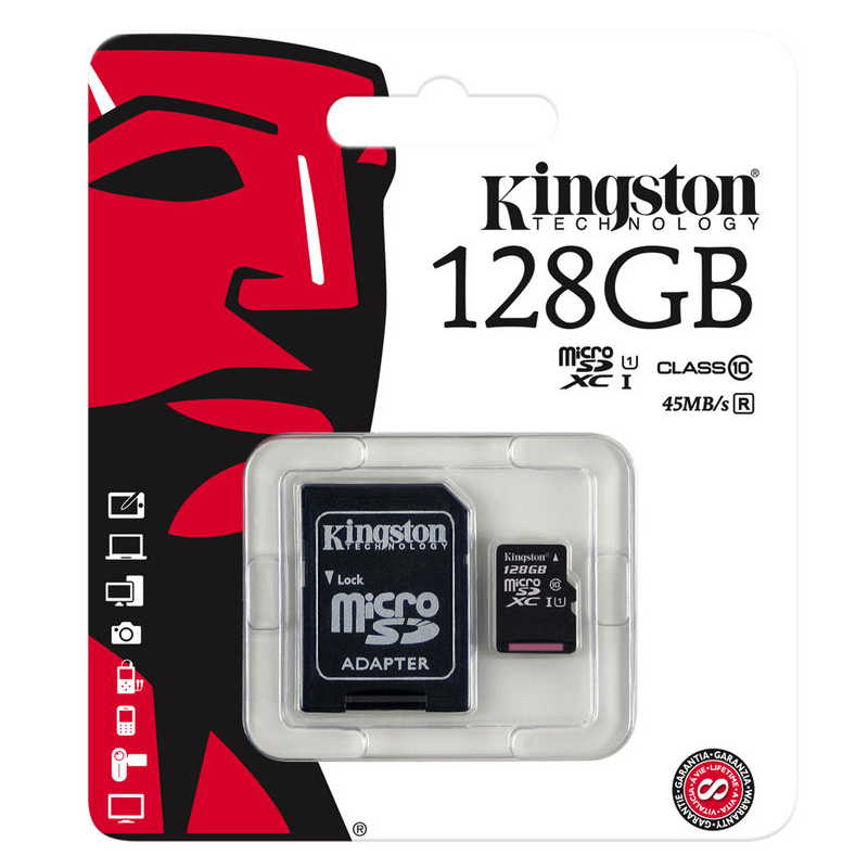 KINGSTON MICRO SD 128GB 45/10MBs