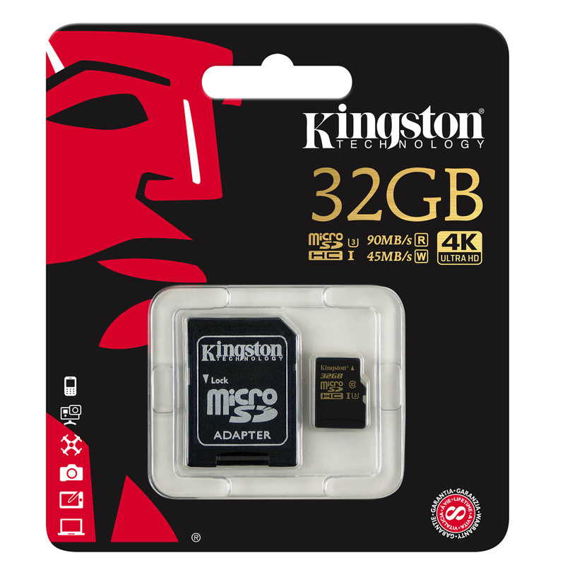 KINGSTON MICRO SD 32GB 90/45MBs