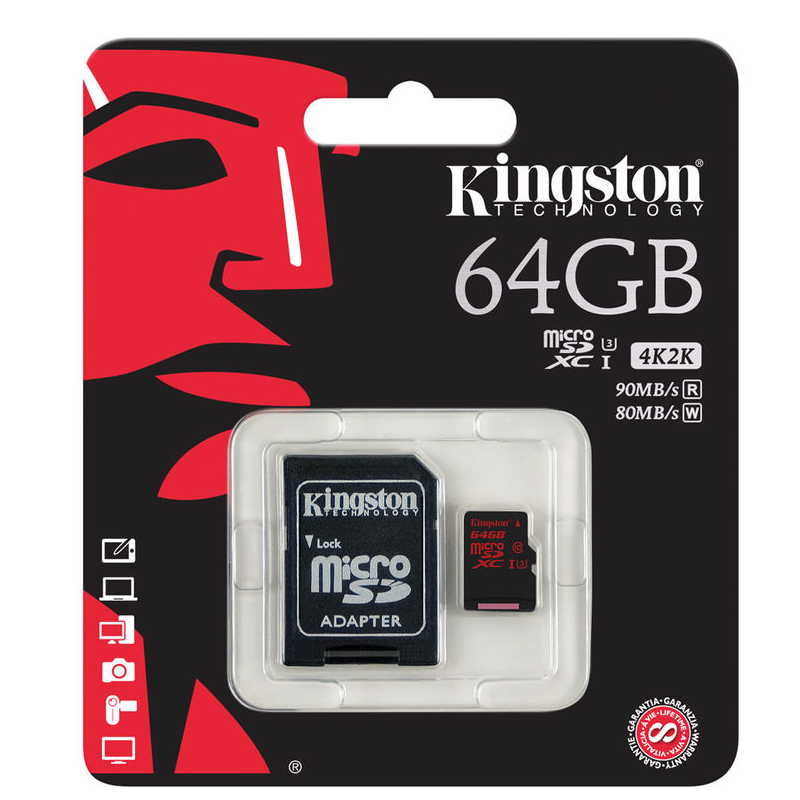 KINGSTON MICRO SD 64GB 90/80MBs