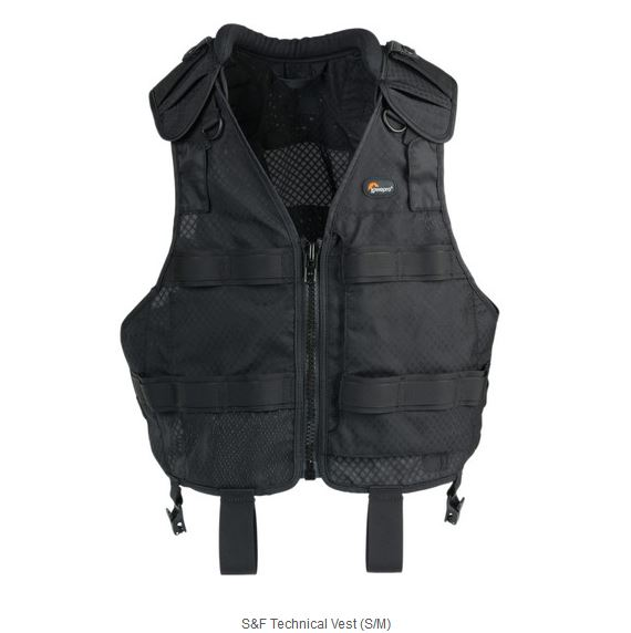 LOWEPRO S&F TECHNICAL VEST (S/M) BLACK