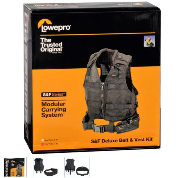 LOWEPRO S&F KIT CINTO + COLETE L-XL