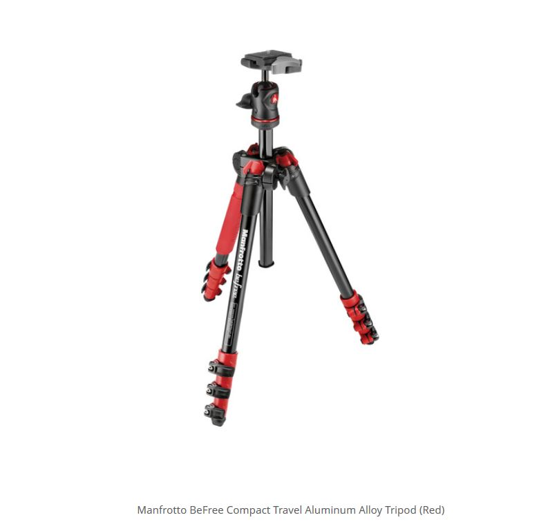 MANFROTTO TRIPE MKBFRA4-BH BEFREE KIT RED