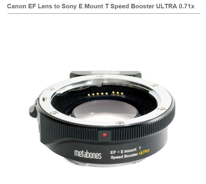 METABONES CANON EF TO E-MOUNT SPEED BOOSTER ULTRA 0.71X