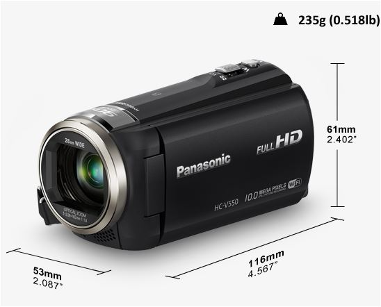 PANASONIC HC-HV550 CAMERA VIDEO BLACK