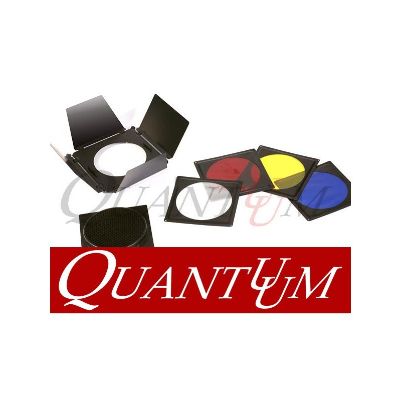 QUANTUUM BARNDOORS SET + 4 FILTROS COR + HONEY COMB