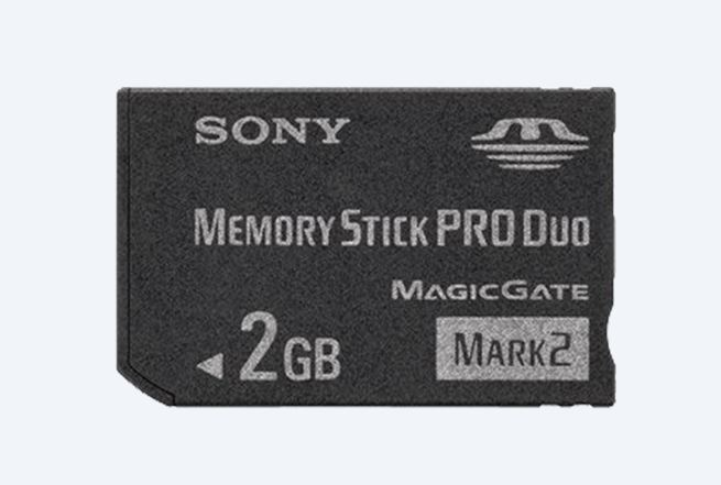 SONY MEMORY STICK 2GB PRO DUO  MARK II