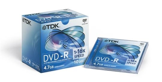 TDK DVD-R 16X JEWEL BOX